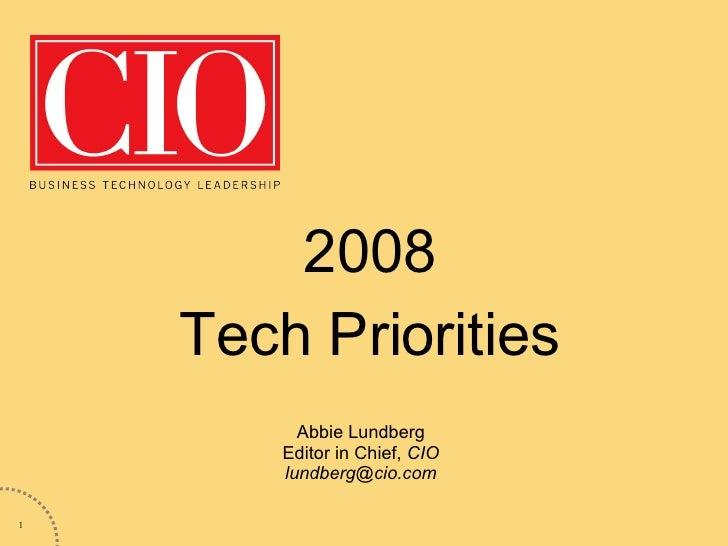 CIO Tech Priorities