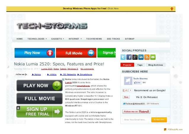 Tech storms blogspot-com-2013-10-nokia-lumia-2520-specs-features-price_html