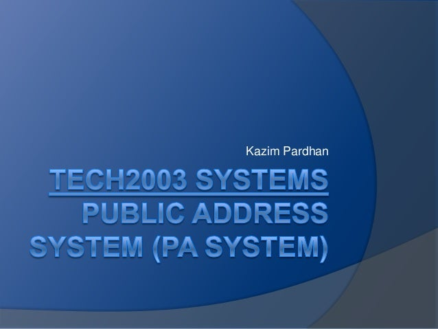 Tech2003 systems