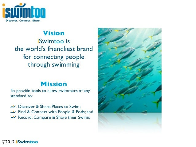 Discover. Connect. Share.                 Vision               iSwimtoo is       the world's friendliest brand          fo...