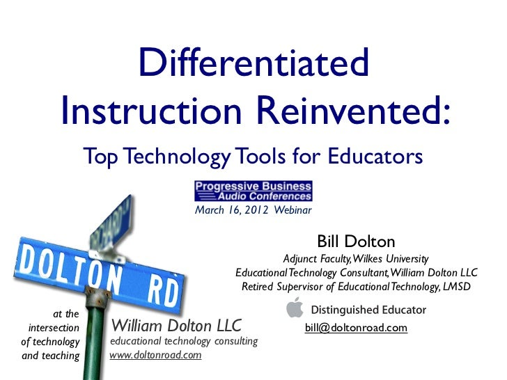 Differentiated         Instruction Reinvented:                 Top Technology Tools for Educators                         ...