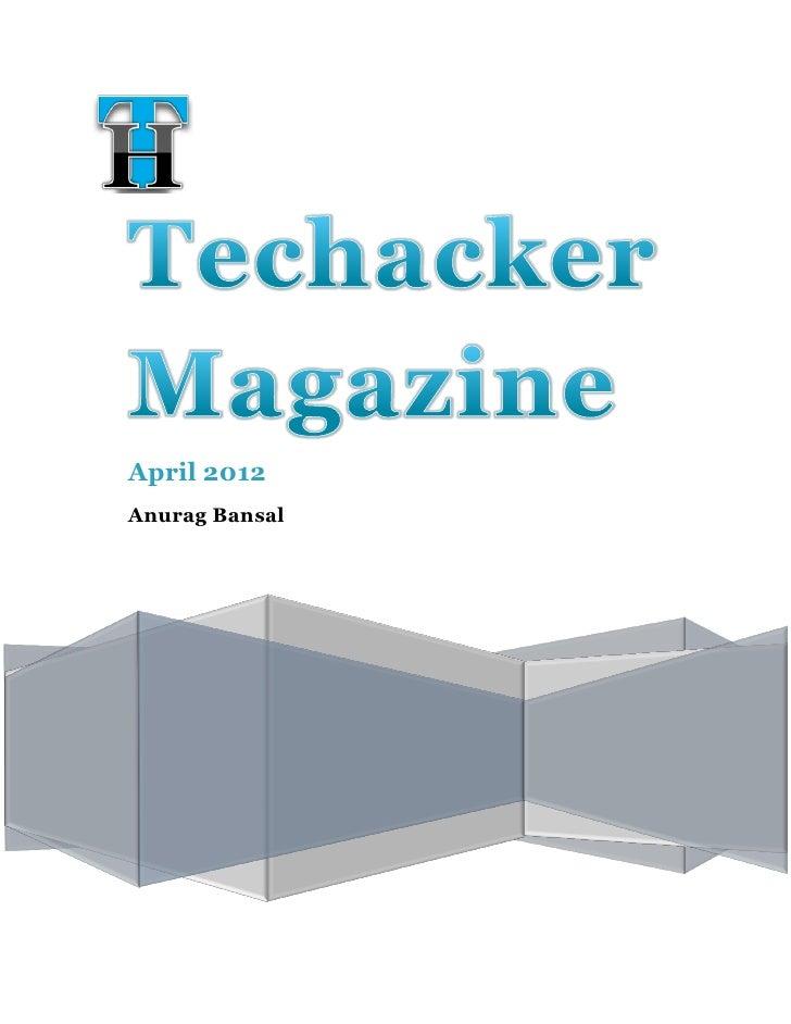 Techacker Magazine April 2012 Edition