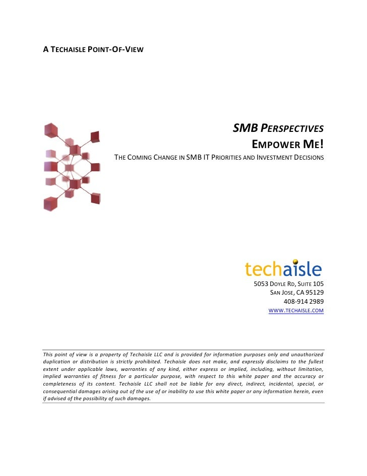 Techaisle: The Coming Change in SMB IT Priorities and Investment Decisions