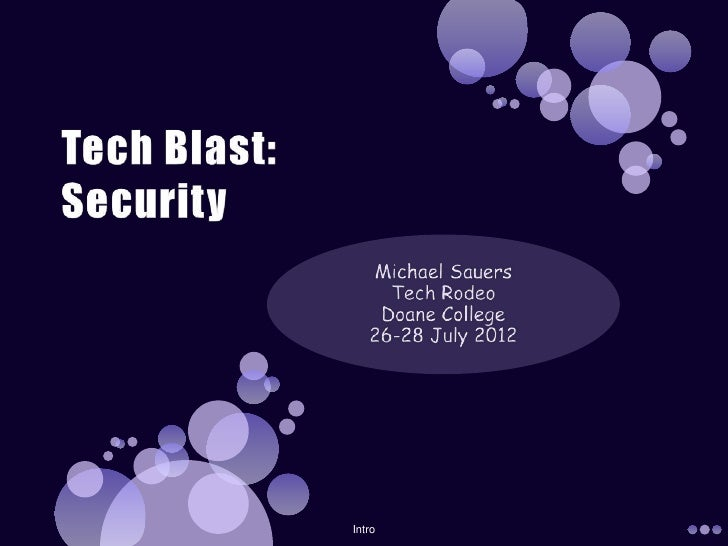Tech Blast: Security