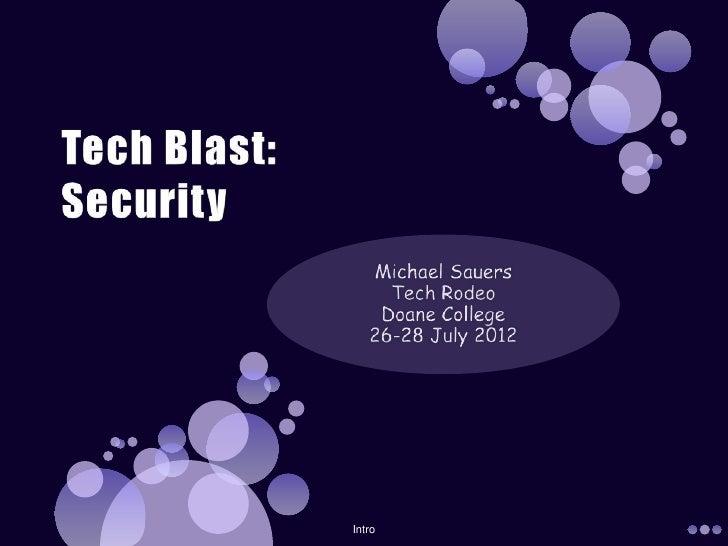 Tech Blast: Security
