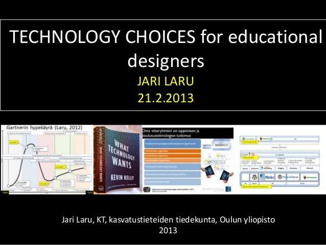 Technology choices (TEL1)