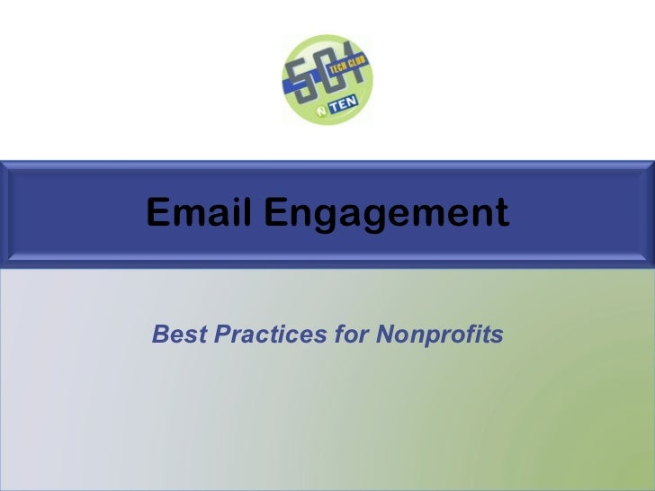Email Engagement Best Practices for Nonprofits