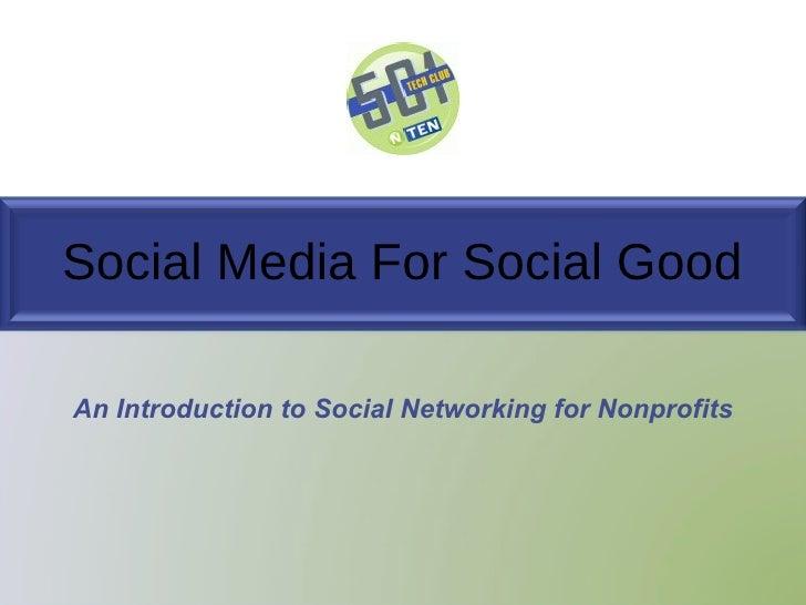 RI 501 Tech Club Social Media Presentation - December 2009