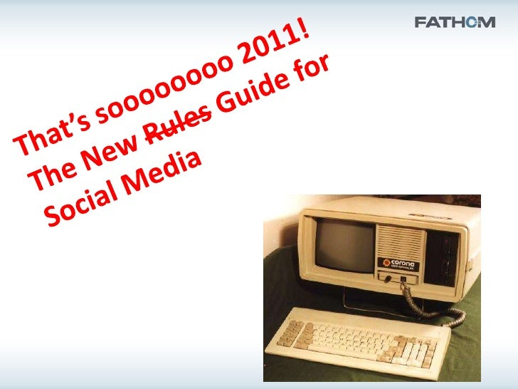 That's Sooooo 2011   Facebook Changes, Again?   I Should Measure What?   Wait, there is an Old Retweet and a New Retwee...
