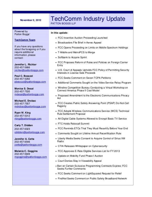 TechComm Industry Update ~ November 2, 2012