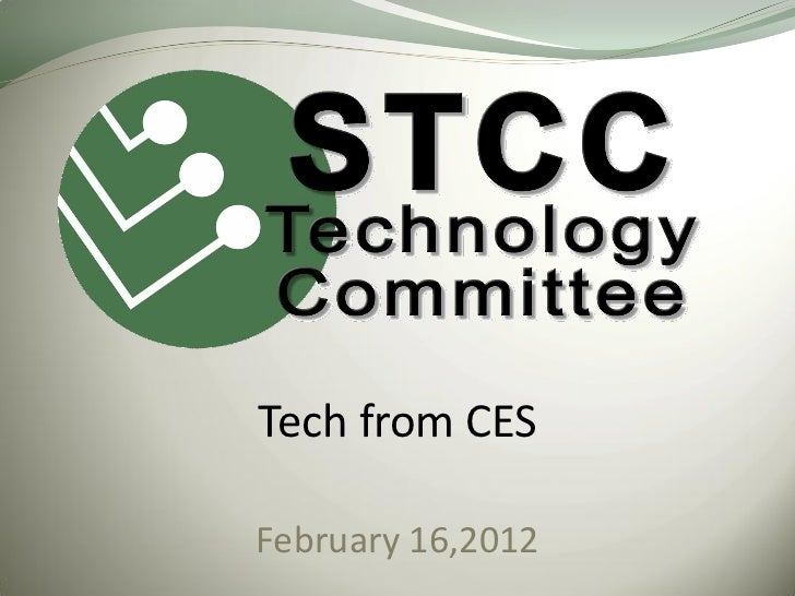 Tech from CESFebruary 16,2012