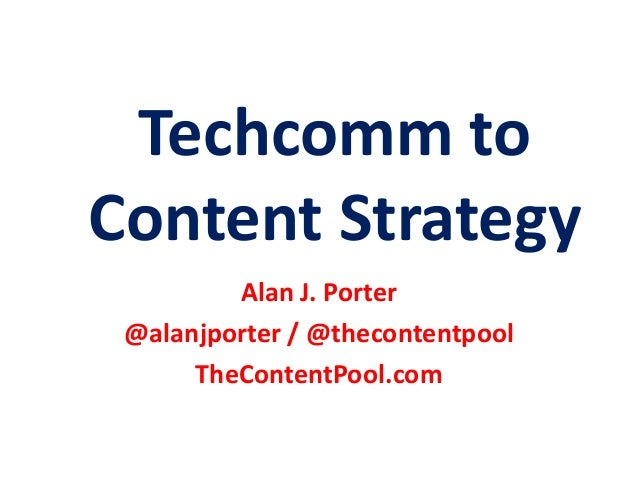 Techcomm to Content Strategy