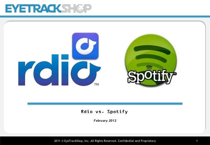 Spotify vs. Rdio