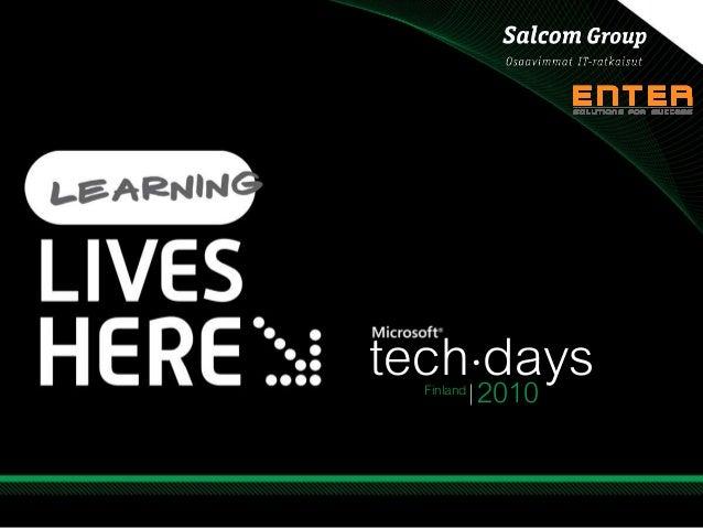 tech days● 2010Finland