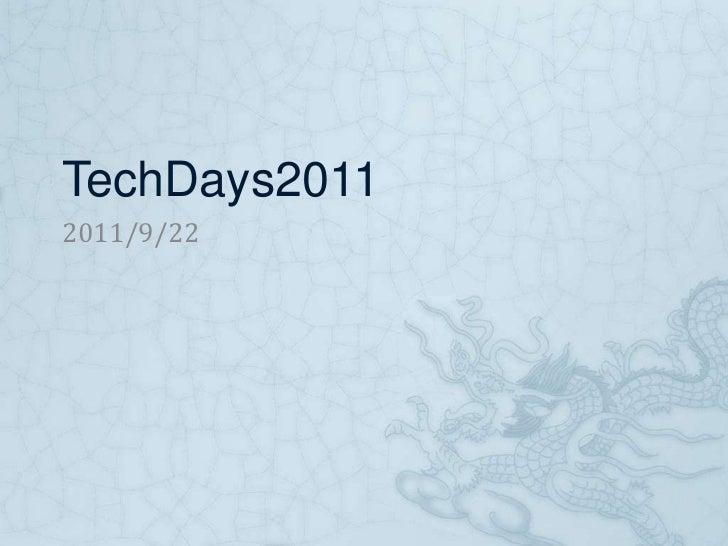 Tech days2011