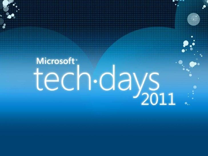 SQLI @ MS Techdays 2011 - Réseau social avec sharepoint 2010