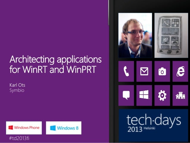 Architecting applicationsfor WinRT and WinPRT