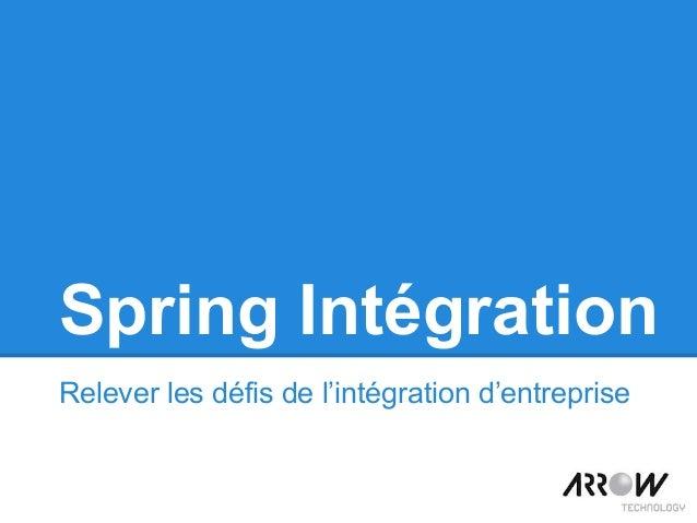 Spring Intégration Relever les défis de l'intégration d'entreprise