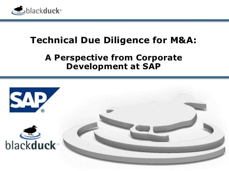 Technical Due Diligence for M&A: A Perspective from Corporate Development at SAP<br />