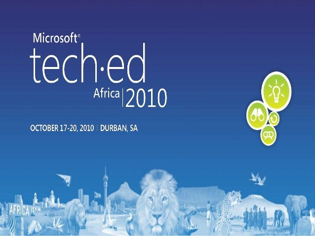 Tech Ed 2010 Attended Sessions