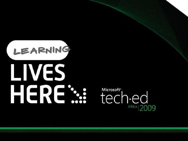 Tech Ed Africa Share Point Infra Fundamentals