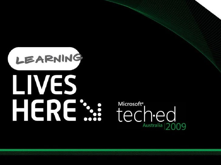 TechEd Australia - OFC102 - Productivity for the ITPro