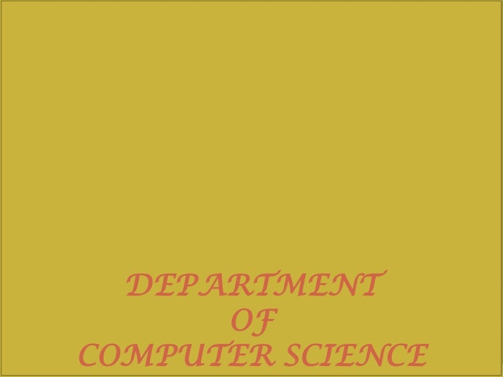 DEPARTMENT      OFCOMPUTER SCIENCE