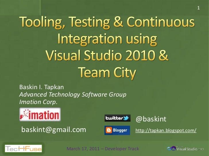 1Baskin I. TapkanAdvanced Technology Software GroupImation Corp.                                             @baskintbaski...