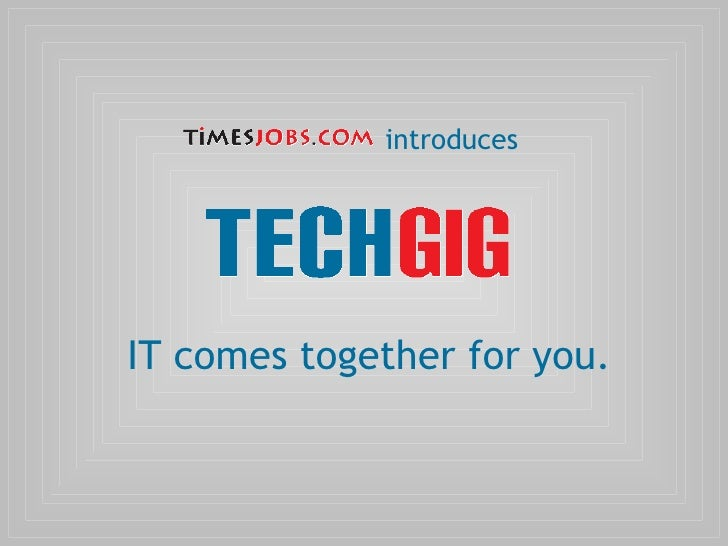TimesJobs Introduces TechGig