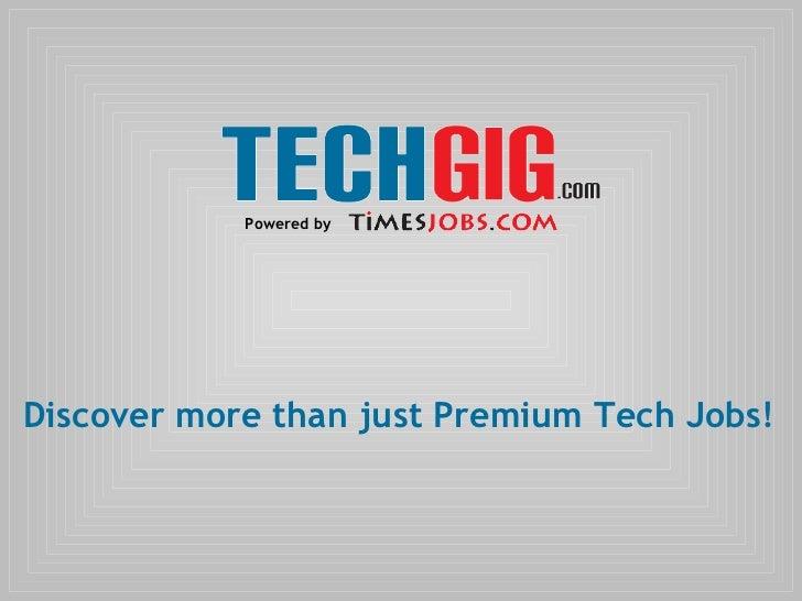 TechGig.com - More than just Premium Tech Jobs