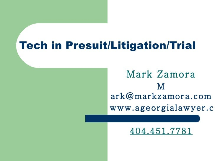 Tech in litigationfinalmarch18