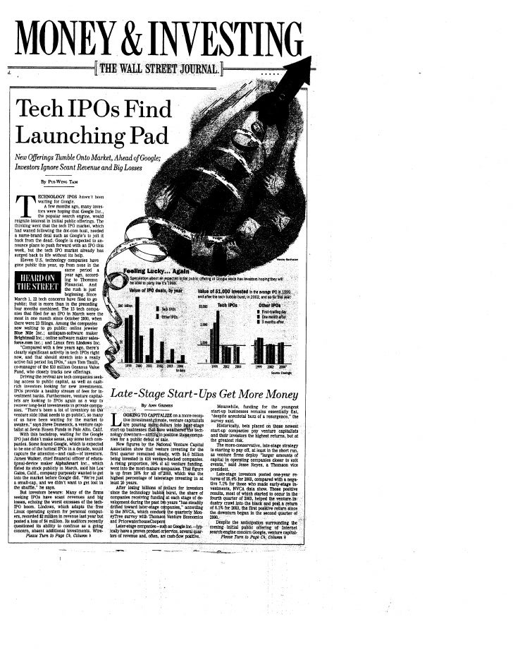 Tech IPOs Find Launching Pad