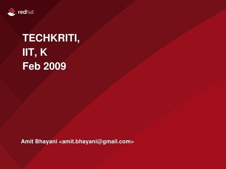 Intro to Open source. Amit Bhayani
