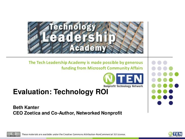 The Tech Leadership Academy is made possible by generous funding from Microsoft Community Affairs<br />Evaluation: Technol...