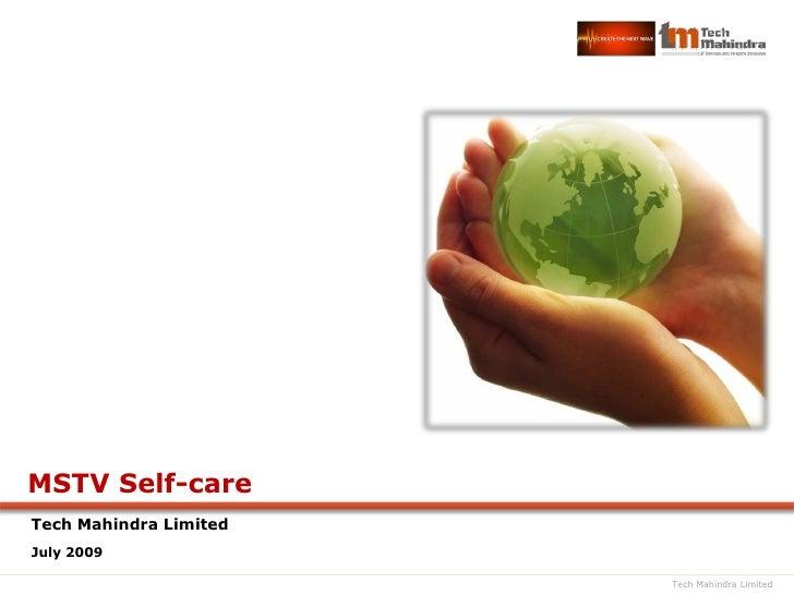 Self Care Solution for Microsoft Mediaroom