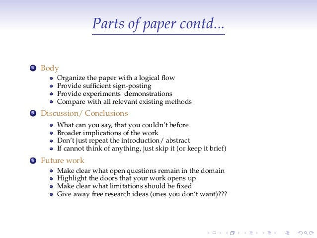 parts research paper Here you can find all informaion regarding parts of a research paper free samples of parts of a research paper are available on this page.