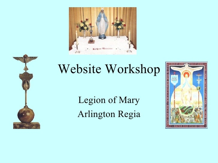 Technical Suggestions for Legion of Mary Websites