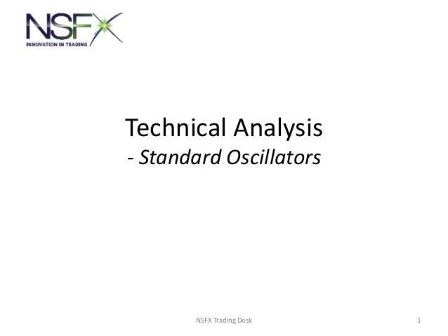 Technical Analysis - Standard Oscillators 1NSFX Trading Desk