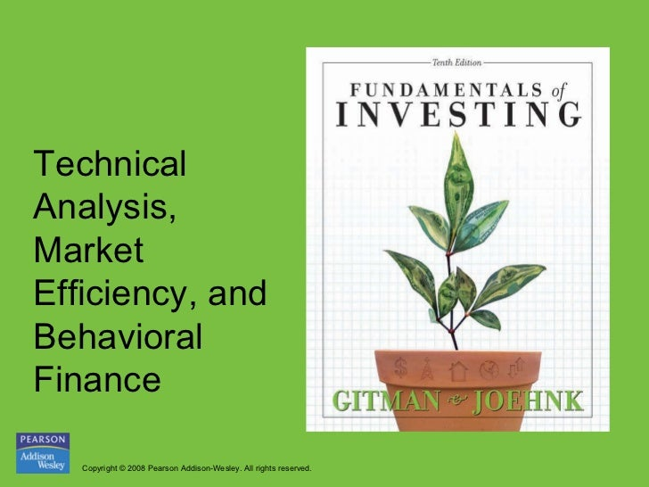 Technical analysis, market efficiency, and behavioral finance