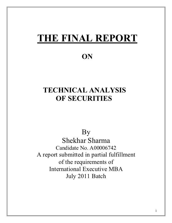 Technicalanalysisofstocks