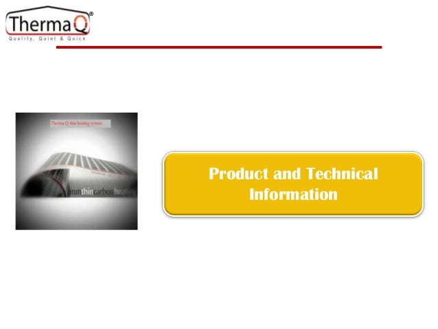 Technical and product information v1