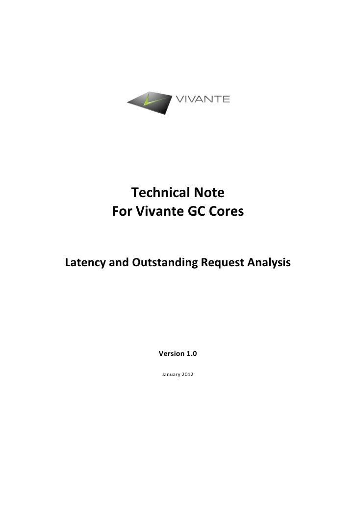 GPU Latency Analysis