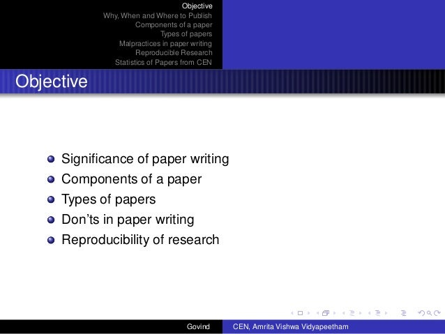 Writing a technical paper