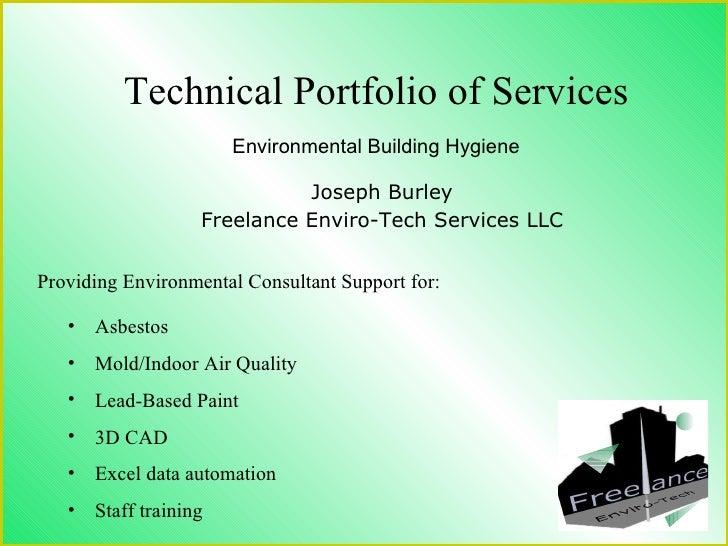 Technical Portfolio- Environmental Building Hygiene