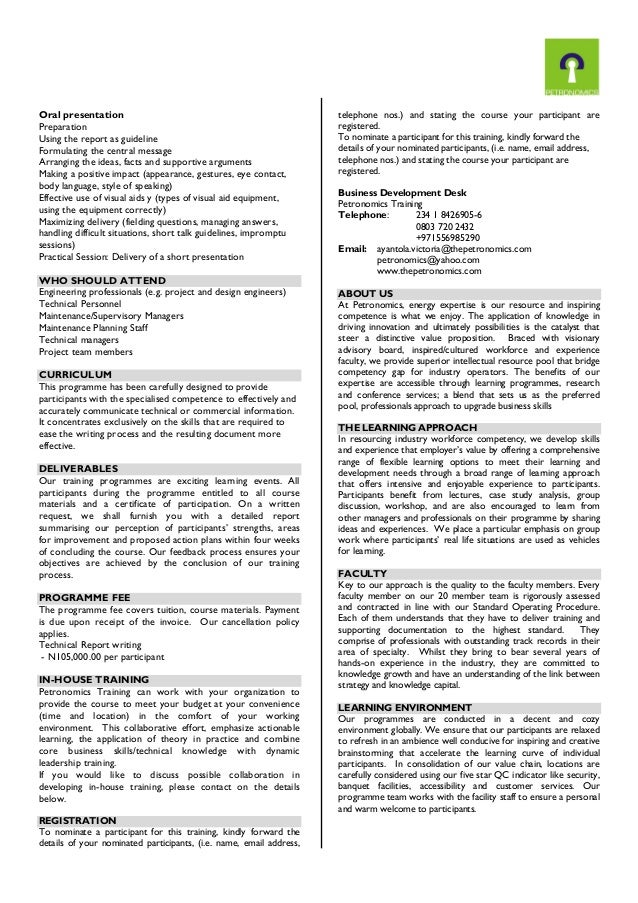 technical report format engineering oker whyanything co