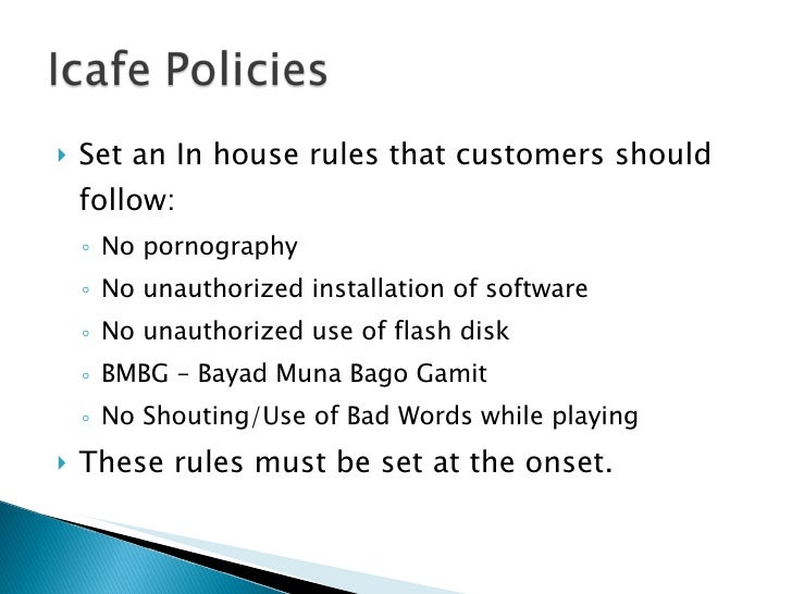 Set an in House Rules