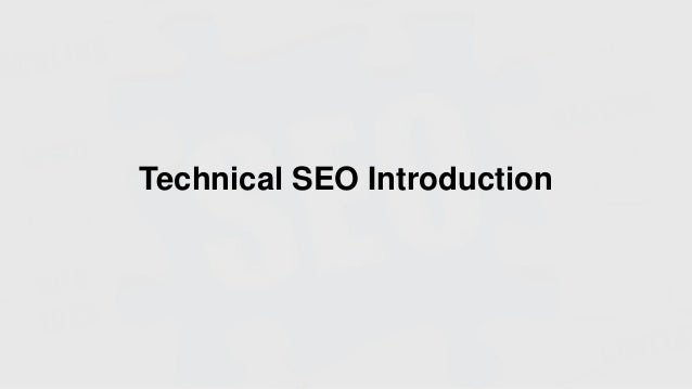 Technical SEO Introduction
