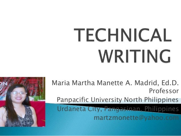 Secondary Education qualities of a good technical report writer