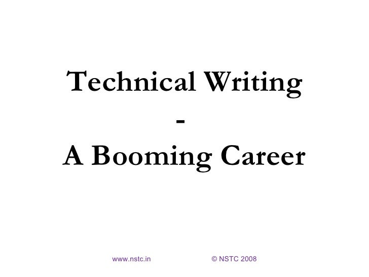 Career in technical writing