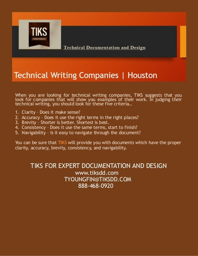 Technical writing company